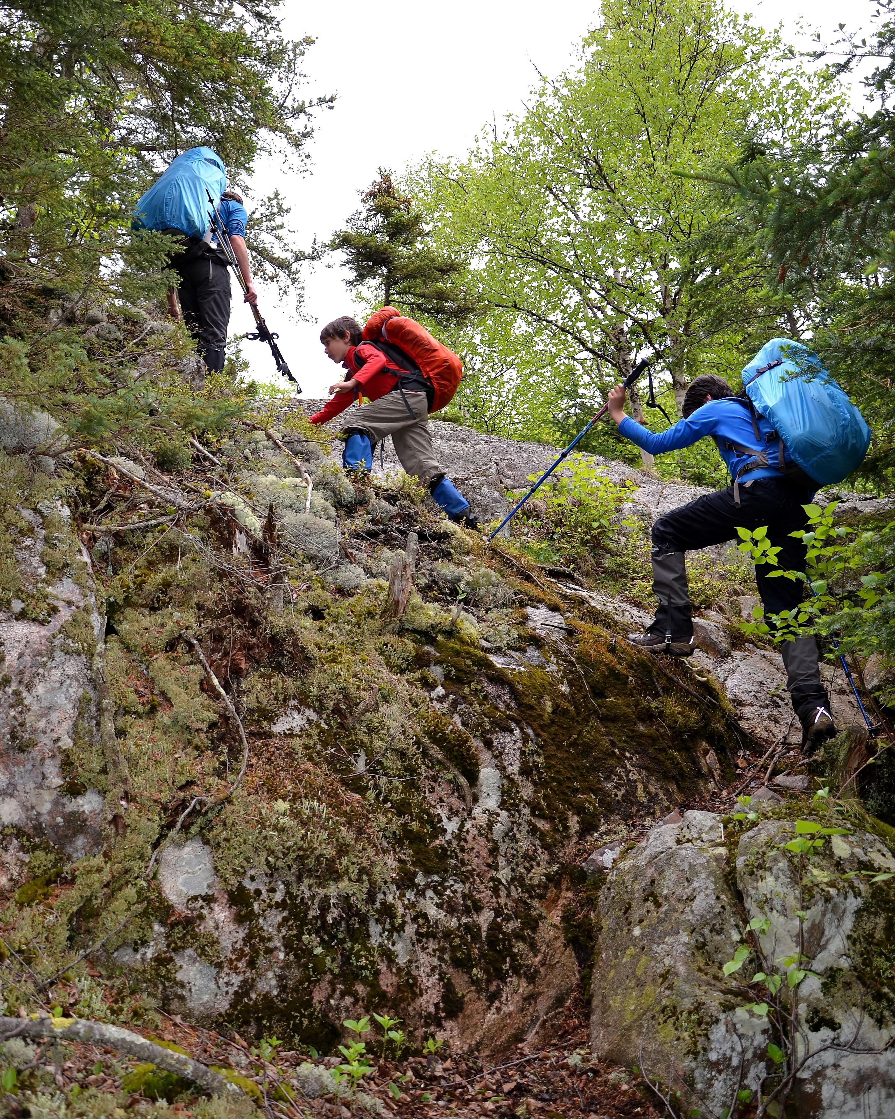 Hiking Killarneys LaCloche Silhouette TrailWith Kids