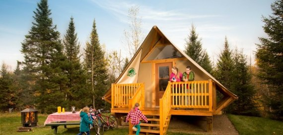 oTENTik accommodation available in St. Lawrence Islandsphoto: Parks Canada